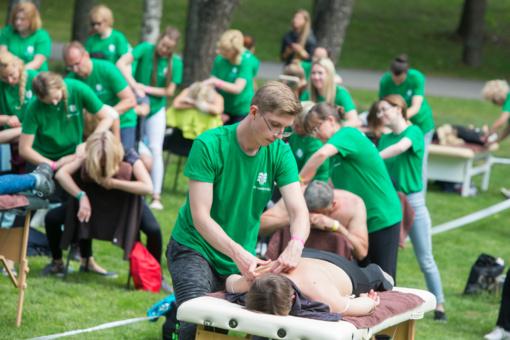 Birštone užfiksuotas masiškiausio masažo rekordas