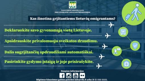 Kaip į Lietuvą grįžtantiems emigrantams pasirūpinti savo ir vaikų privalomuoju sveikatos draudimu?