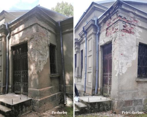 Atnaujintas Skuodo dvaro sodybos fragmentų cerkvės pastatas