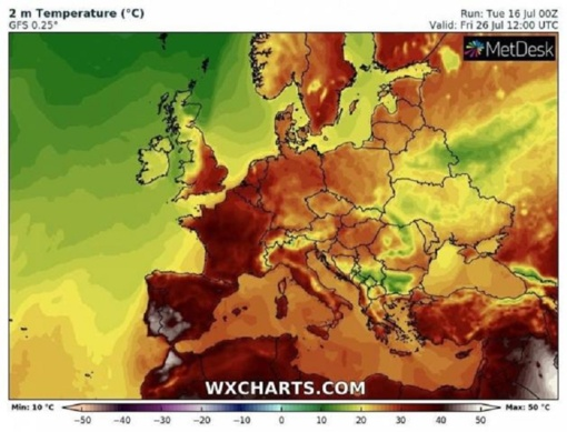 Europą užlies dar viena karščio banga: kaitra perkops 40 laipsnių