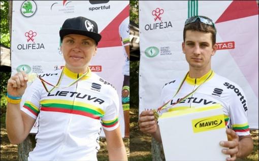 Dviratininkai K. Sosna ir Š. Pacevičius - penkiskart šalies MTB olimpinio kroso čempionai