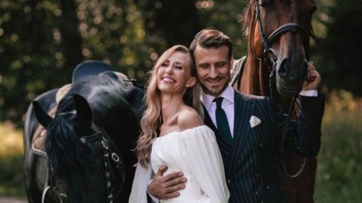 Vilniuje aukso žiedus sumainė baleto šokėjai Ž. Beniuševičius ir A. Šimkutė