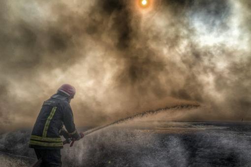 Jurbarko rajone degė ūkinis pastatas