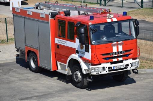 Klaipėdos rajone degė automobilis