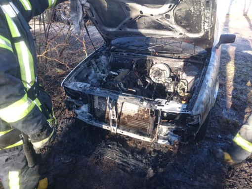 Pavogė ir padegė automobilį