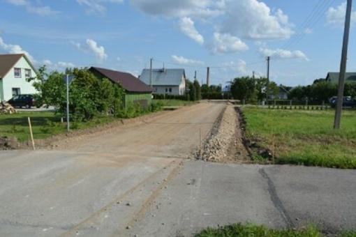 Pradedami Jurbarko rajone esančių gatvių rekonstrukcijos darbai