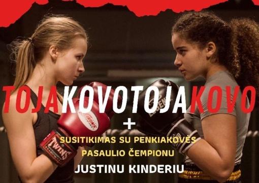 """Kino centre """"Garsas"""" diskusija su pasaulio penkiakovės čempionu Justinu Kinderiu"""