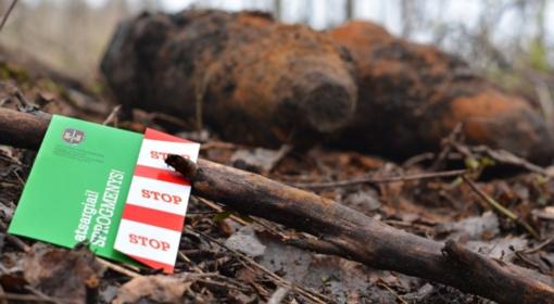 Vilkaviškio rajono kaime aptiktas 21 artilerijos sviedinys