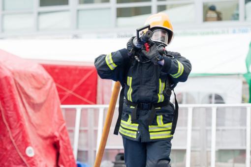 Kaune kilo gaisras cheminėmis medžiagomis prekiaujančioje įmonėje