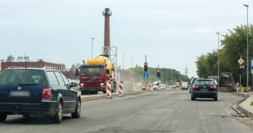 Įpusėjo kelio rekonstrukcija Liepų gatvėje