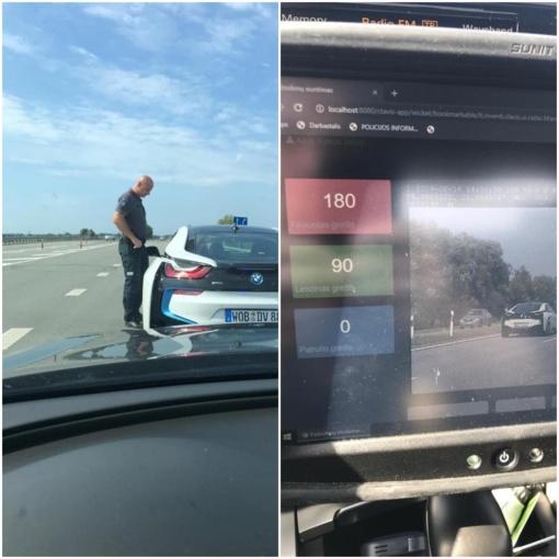 Policija sustabdė gerokai įsibėgėjusį BMW