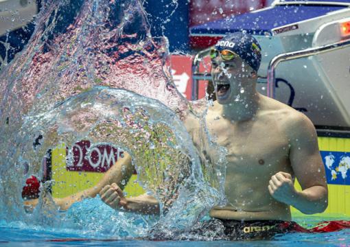 Fantastišką rezultatą užfiksavęs D. Rapšys triumfavo pasaulio plaukimo taurėje