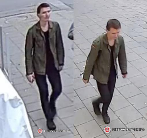 Pareigūnai prašo visuomenės pagalbos – atpažinti vaizdo kameros užfiksuotą vyrą