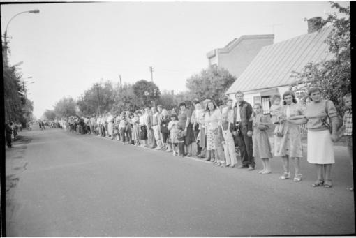 Baltijos kelio 30-mečio minėjimo renginys Chaimo Frenkelio viloje