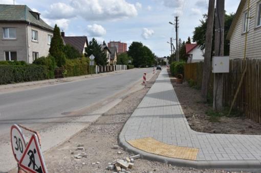 Pėsčiųjų saugumui ir patogumui – atnaujintas šaligatvis P. Cvirkos gatvėje
