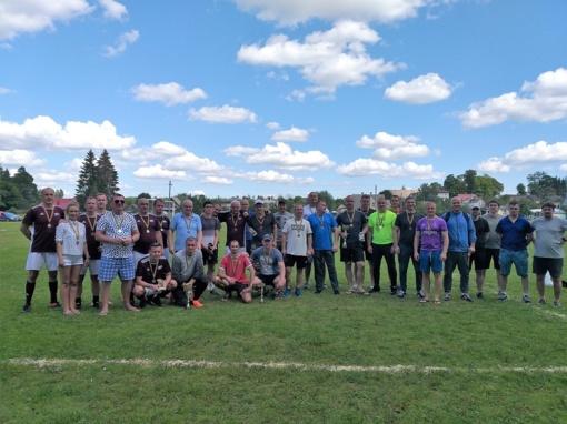 """VIII Tarptautinis futbolo turnyras SK """"Visinčia"""" taurei laimėti"""
