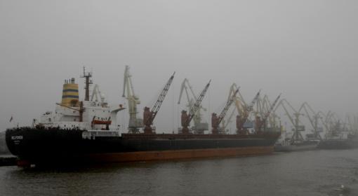 Klaipėdos jūrų uoste apribota laivyba