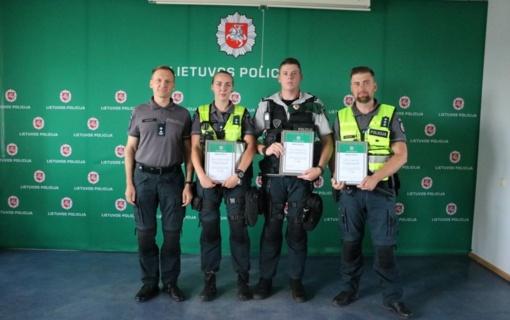 Išrinkti geriausi šių metų Kauno apskrities policijos pareigūnai