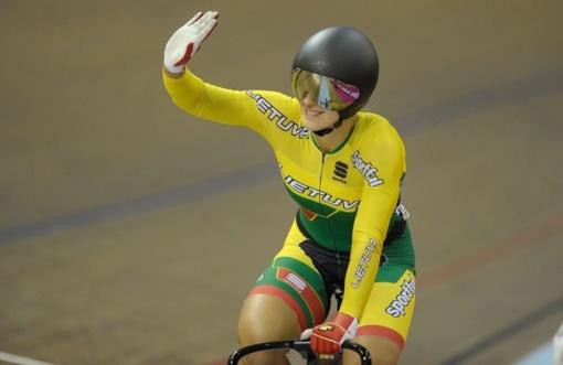 Treko dviratininkė S. Krupeckaitė Japonijoje iškovojo bronzos medalį