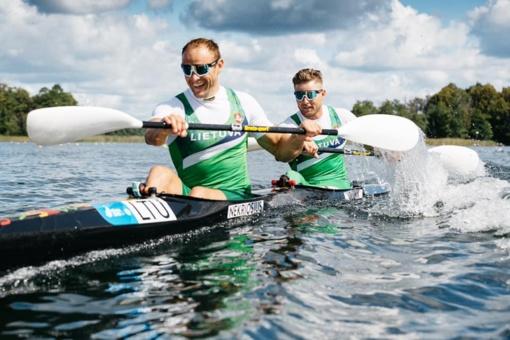 Baidarininkai R. Nekriošius ir A. Olijnikas pateko į pasaulio čempionato finalą