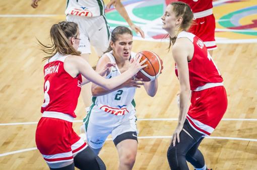 Lietuvos 16-metės krepšininkės pateko į Europos čempionato pusfinalį