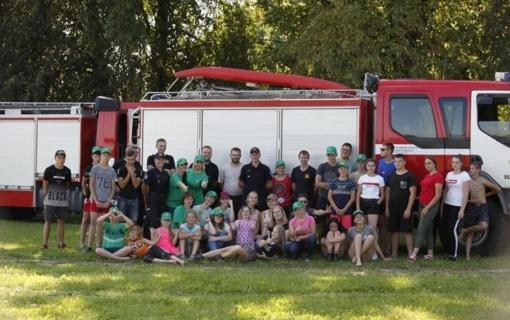 Vilkaviškis: stovyklautojams patiko prasmingos ugniagesių pamokos
