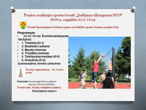Punios seniūnijos sporto šventė