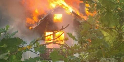 Prie Dailidės ežero degė namas (©️ VIDEOĮRAŠAS)