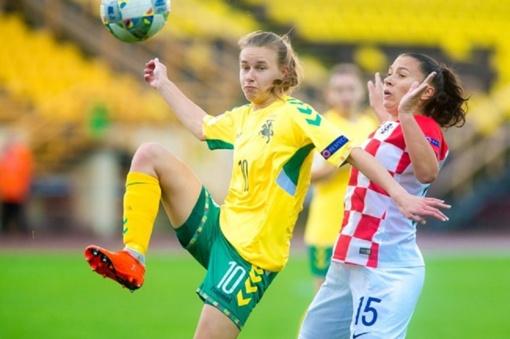 Lietuvos futbolininkės Europos čempionato atrankoje pralaimėjo kroatėms