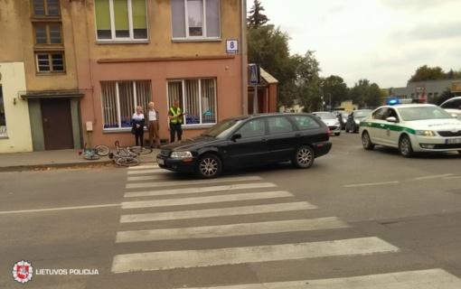 Automobilis kliudė dviračiu važiavusį aštuonmetį