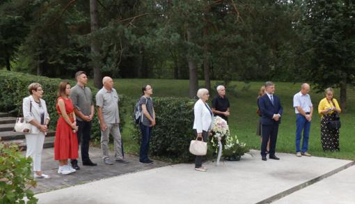 Molėtuose pagerbtos holokausto aukos