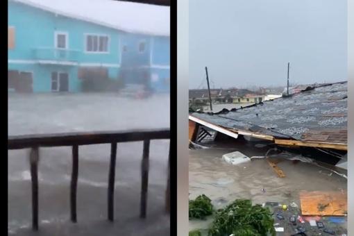24 valandos uragano Dorian Bahamuose: salynas nusiaubtas (vaizdo įrašai)