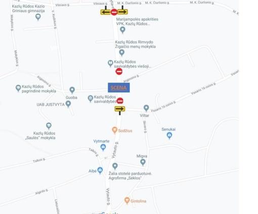 Miesto šventės metu bus ribojamas eismas gatvėse