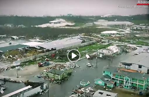 """""""Dorian"""" aukų Bahamose padaugėjo iki 7, uraganas slenka palei JAV pakrantę (vaizdo įrašas)"""