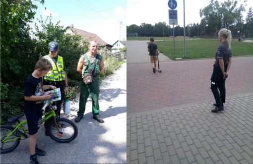 Šalčininkų policija primena – dviračiais ir paspirtukais važinėkimės saugiai