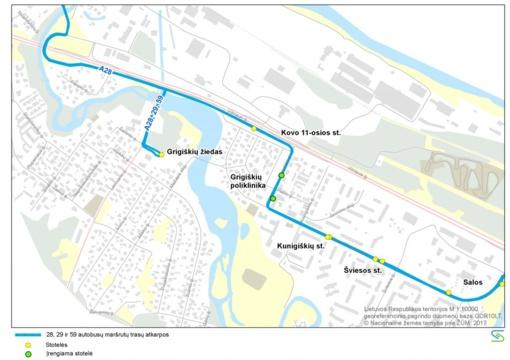 Nuo rugsėjo 9 d. Grigiškėse – viešojo transporto eismo organizavimo pakeitimai