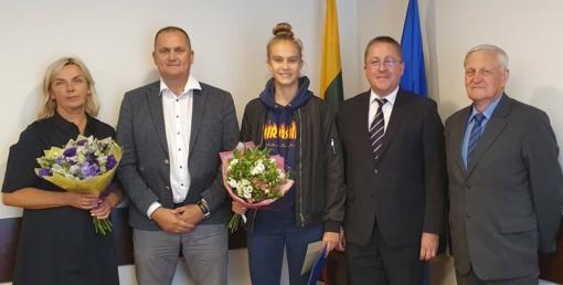 Europos jaunučių krepšinio vicečempionei Justei Veronikai Jocytei – sveikinimai visų palangiškių vardu