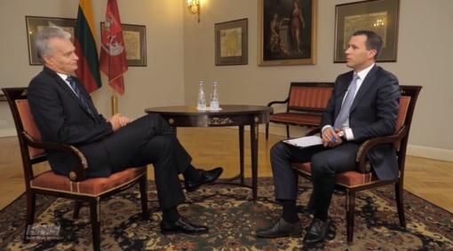 G. Nausėda: nerimauju dėl visuomenės susipriešinimo (vaizdo įrašas)
