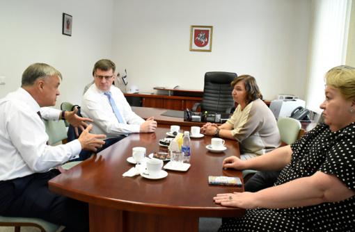 Savivaldybėje lankėsi Lietuvos pramonininkų konfederacijos prezidentas