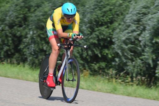 Kalnų dviratininkė K. Sosna iškovojo pergalę Šveicarijoje