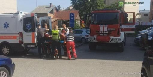Specialiųjų tarnybų pagalbos prireikė Ligoninės g. gyventojui (vaizdo įrašas)