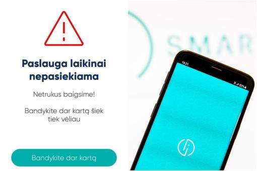 """""""Smart-ID"""" susidūrė su problemomis: negalima naudotis bankinėmis paslaugomis"""