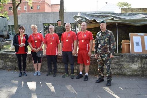 Panevėžio įgulos sporto šventėje jėgas išbandė ir Panevėžio rajono savivaldybės komanda