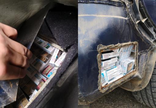 Šalčininkietės automobilyje pasieniečiai rado kontrabandinių rūkalų slėptuvę