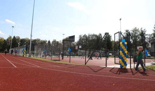 Jonučių moksleiviai sportuos atnaujintame stadione