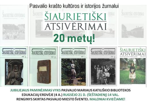 Pasvalio krašto žurnalas švenčia 20-metį