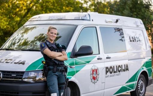 """Pareigūnė Gerda - """"Policininko darbas labai įdomus, svarbu tik mėgti tai ką darai"""""""