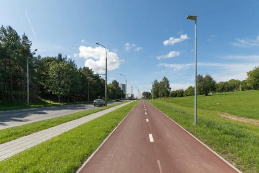 Sostinės Kareivių gatvėje – naujas dviračių takas