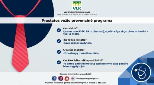 Šiaulių TLK kviečia vyrus pasitikrinti dėl prostatos vėžio