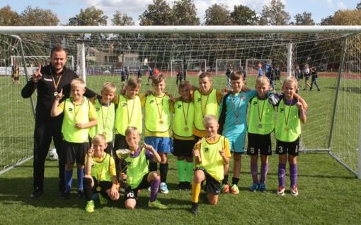 Pirmą kartą suburta apskrities vaikų futbolo rinktinė
